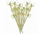 Double Flower Bamboo Skewer Stick