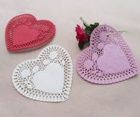Heart Color Paper Doily