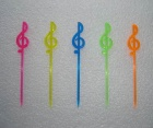 Music Notes Shaped Plastic Cocktail Stick